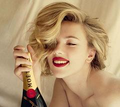 Девушка и шампанское