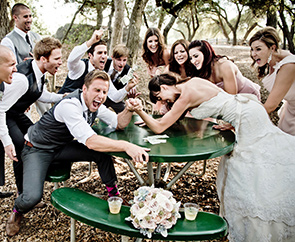 Групповое свадебное поздравление